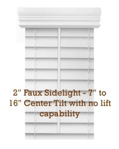 "2"" Premium Faux Wood Blinds - No Lift Sidelights"